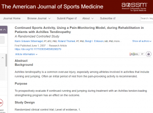 American Journal of Sports Medicine Abstract and Source